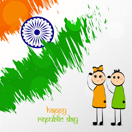 Illustration of Indian Republic Day background