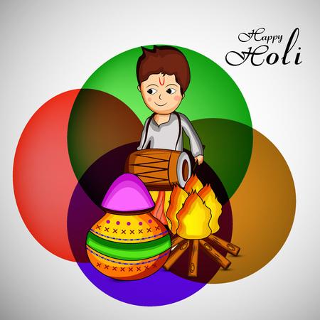 Illustration of background for the indian festival holi