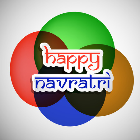 Illustration of Happy Navratri text for the occasion of Hindi Festival Navratri.