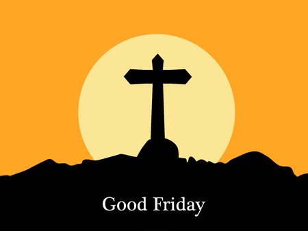 Illustration of Cross for Good Friday background Vettoriali