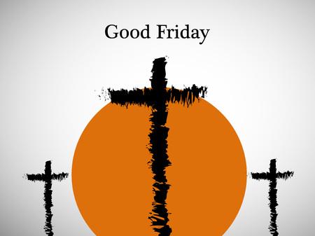 Illustration of Cross for Good Friday background Illustration