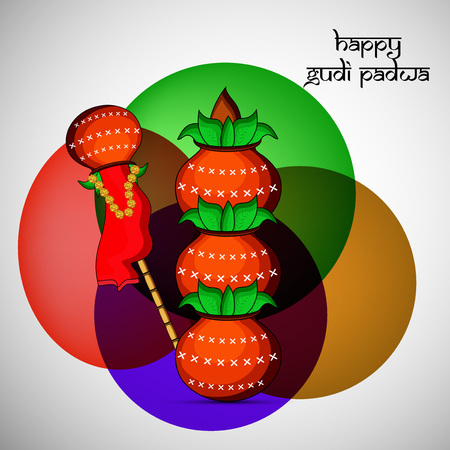 Illustration of elements for the occasion of Hindu festival Gudi Padwa