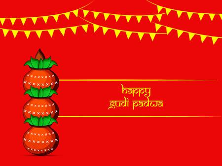 Illustration des éléments pour l & # 39 ; édition du festival hindou padwa padwa Banque d'images - 97198026