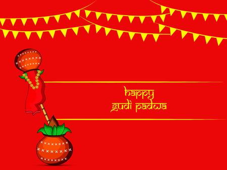 Illustration des éléments pour l & # 39 ; édition du festival hindou padwa padwa Banque d'images - 97197677