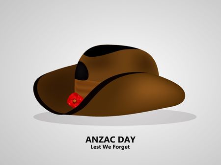 illustration of Anzac Day background. Anzac Day -  national day of remembrance in Australia and New Zealand hat Vector illustration.
