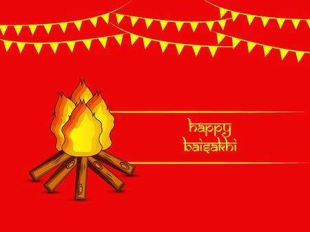 Illustration of background for Indian festival Baisakhi