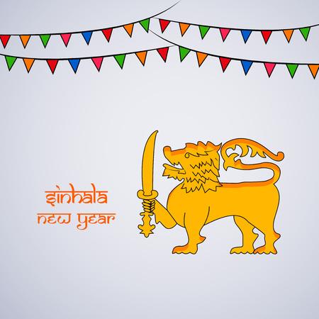 Illustration of Sri Lanka New Year background.