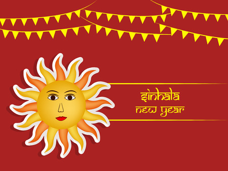 Illustration of Sri Lanka New Year background