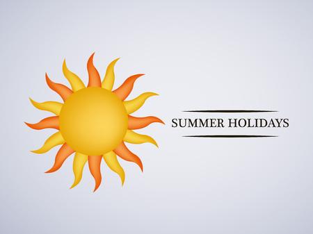 Illustration of background for Summer Season Vettoriali