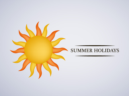Illustration of background for Summer Season Illustration
