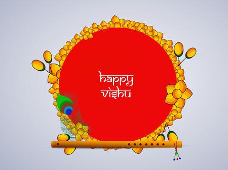 illustration of Indian State kerala Hindu festival Vishu Background