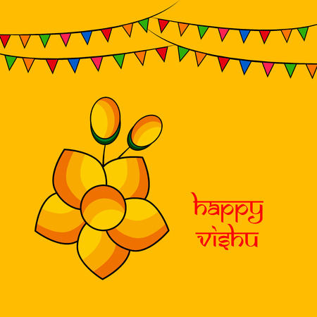 illustration of Indian State kerala Hindu festival Vishu Background