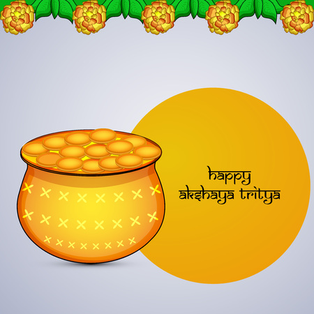Illustration of Indian Hindu festival, with text.