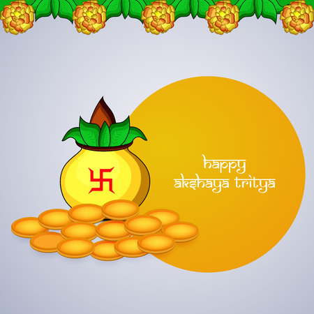 Illustration of Indian Hindu festival with text on gray background.