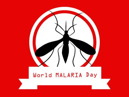 illustration of World Malaria Day background
