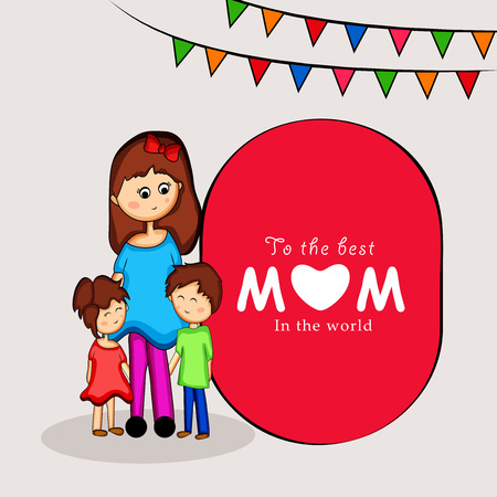 Illustration of background for Mother's Day