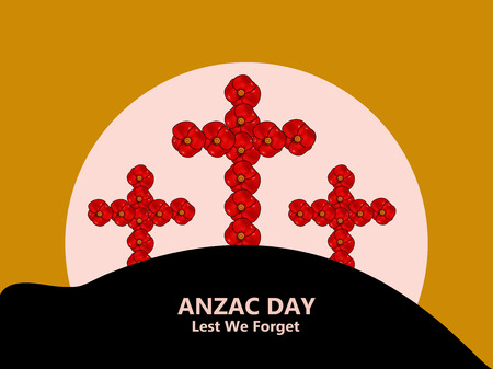 Illustration of Anzac Day background