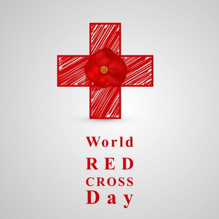 Illustration of World Red Cross Day background 矢量图像