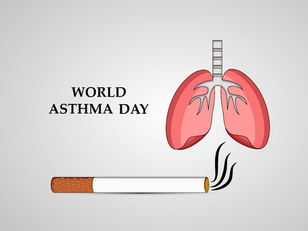 Illustration of Asthma Day background Illustration