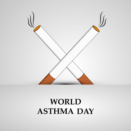 Illustration of Asthma Day background Vectores
