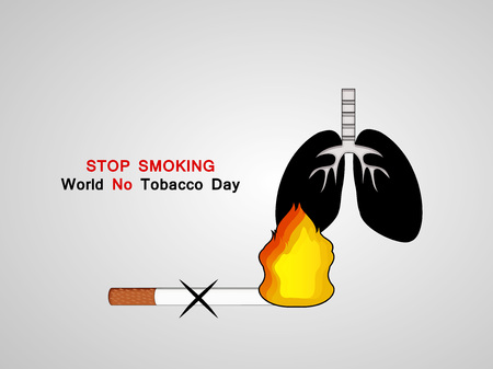 Illustration of background for World No Tobacco Day Illustration