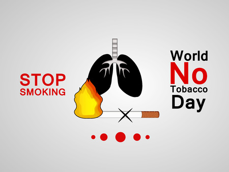 Illustration of background for World No Tobacco Day 矢量图像