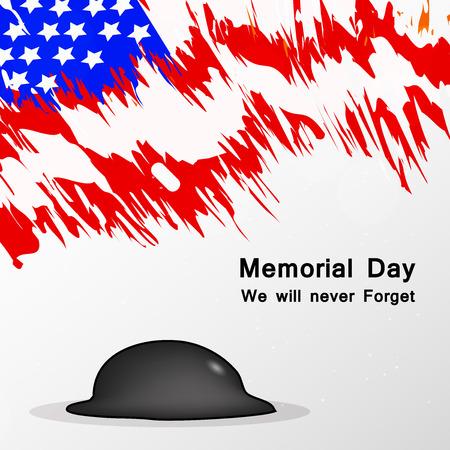 Illustration of USA Memorial Day background 矢量图像