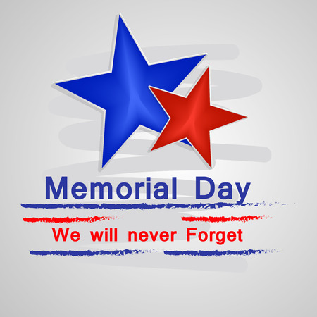 Illustration of USA Memorial Day background Vectores