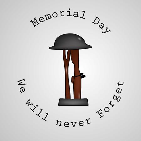 Illustration of USA Memorial Day background 免版税图像 - 100075646