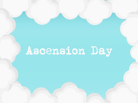 Illustration of background for Ascension Day.
