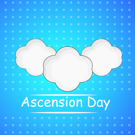 Illustration of background for Ascension Day.
