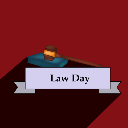 Illustration of USA Law Day Vettoriali