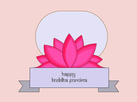 Illustration of background for Hindu Buddhism festival Buddha Purnima Foto de archivo - 100731916