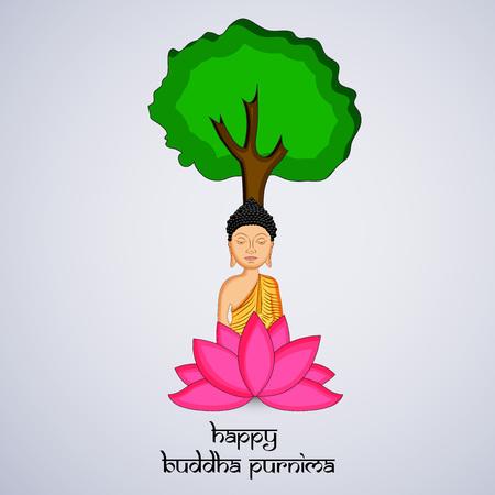 Illustration of background for Hindu Buddhism festival Buddha Purnima