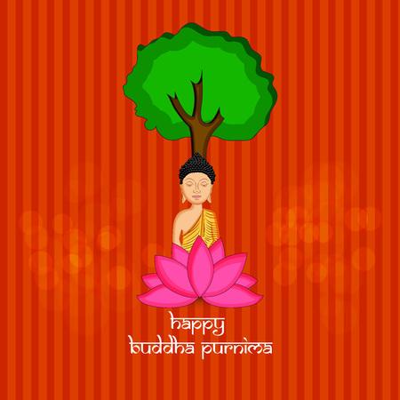 Illustration of background for Hindu Buddhism festival Buddha Purnima Foto de archivo - 100761590