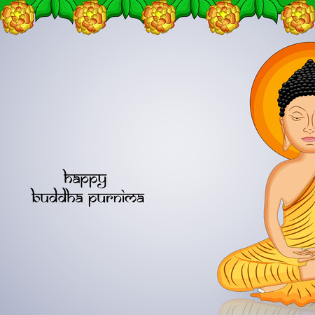 Illustration of background for Hindu Buddhism festival Buddha Purnima Foto de archivo - 100731919