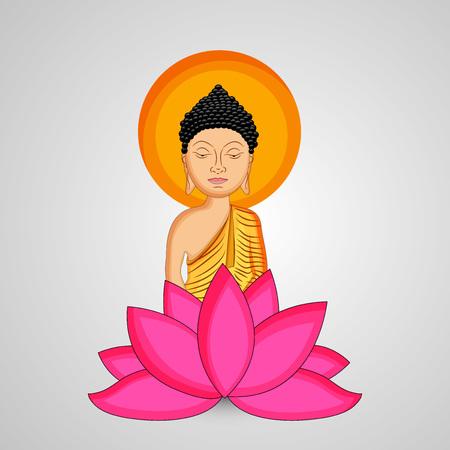 Illustration of background for Hindu Buddhism festival Buddha Purnima Foto de archivo - 100731926