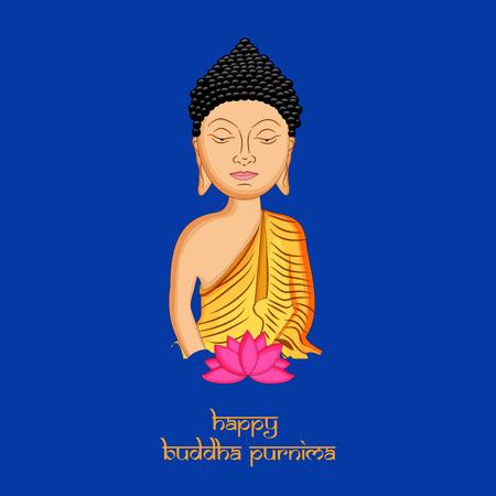 Illustration of background for Hindu Buddhism festival Buddha Purnima Foto de archivo - 100731927