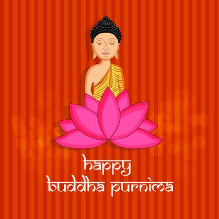 Illustration of background for Hindu Buddhism festival Buddha Purnima Foto de archivo - 100731601