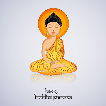 Illustration of background for Hindu Buddhism festival Buddha Purnima Foto de archivo - 100731602