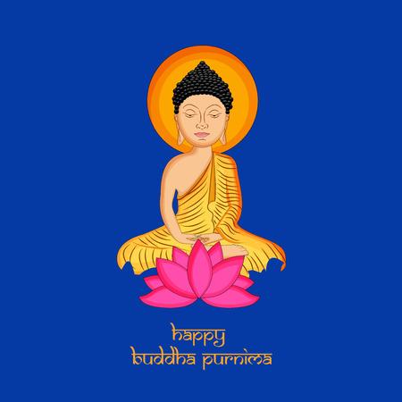 Illustration of background for Hindu Buddhism festival Buddha Purnima Foto de archivo - 100731604