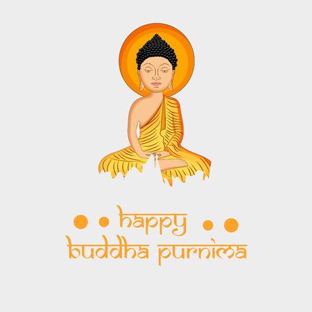 Illustration of background for Hindu Buddhism festival Buddha Purnima Foto de archivo - 100731607