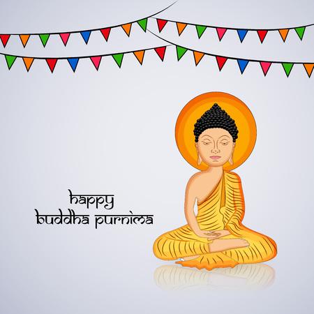 Illustration of background for Hindu Buddhism festival Buddha Purnima Foto de archivo - 100731612