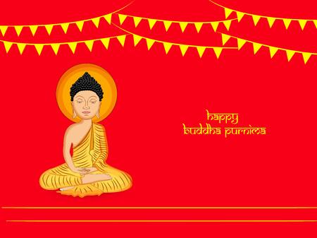Illustration of background for Hindu Buddhism festival Buddha Purnima Foto de archivo - 100731610