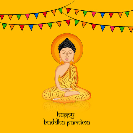 Illustration of background for Hindu Buddhism festival Buddha Purnima Foto de archivo - 100731611