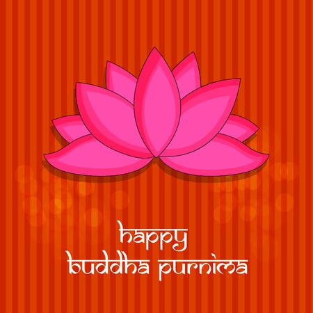 Illustration of background for Hindu Buddhism festival Buddha Purnima Foto de archivo - 100731820