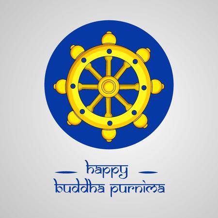 Illustration of background for Hindu Buddhism festival Buddha Purnima Foto de archivo - 100731829