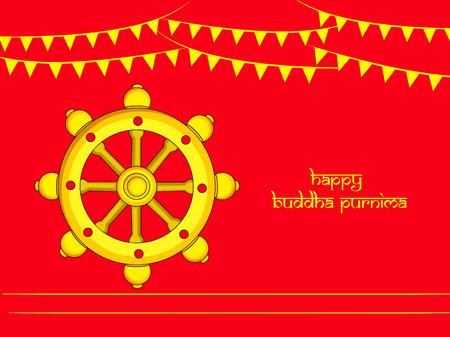 Illustration of background for Hindu Buddhism festival Buddha Purnima Foto de archivo - 100731832