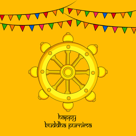 Illustration of background for Hindu Buddhism festival Buddha Purnima Foto de archivo - 100731835