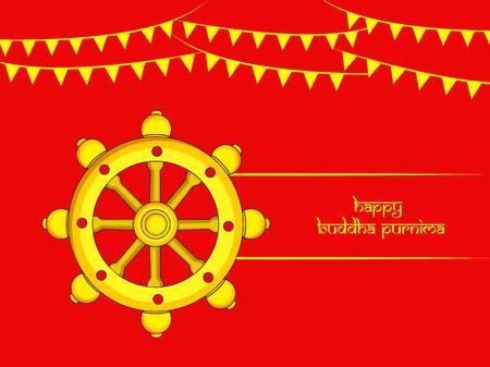 Illustration of background for Hindu Buddhism festival Buddha Purnima Foto de archivo - 100731642
